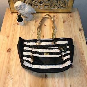 Luv Betsy by Betsy Johnson striped tote